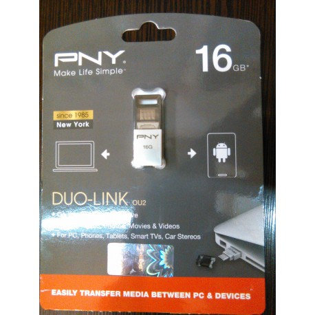 فلش مموری PNY DUO-LINK 16G