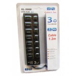 هاب 7 پورت USB3 کلید دار مدل HUB P-219