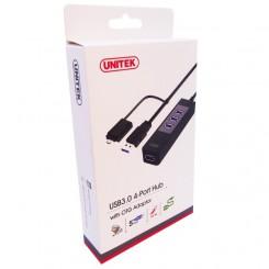 هاب USB 3.0 چهار پورت یونتیک Unitek Y-3046A 4 Port USB 3.0 Hub With OTG Converter