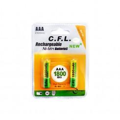باتری نیم قلمی قابل شارژ CFL مدل 850mah AAA بسته 2 عددی