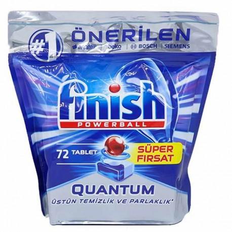 قرص ماشین ظرفشویی فینیش کوانتوم بسته 72 عددی