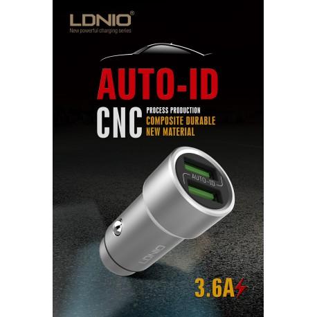 شارژر فندکی الدینو LDNIO USB C302