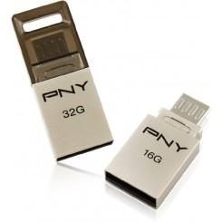فلش مموری 16گیک دو کاره مدل پی ان وای PNY DUO-LINK 16G8