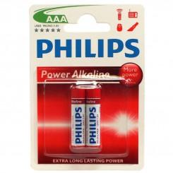باتری نیم قلم دوتایی فیلیپس پاور آلکالینPower Alkaline PHILIPS