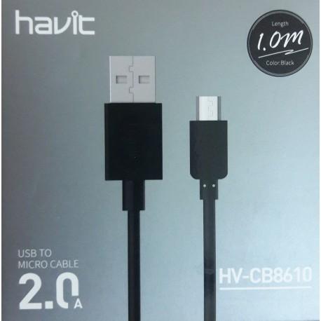 کابل شارژ میکرو USB هویت (1متری ) havit HV-CB8610