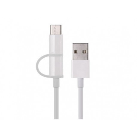 کابل شارژ و انتقال داده دو سر شیائومی مدل Xiaomi ZMI Micro USB And Type-C Cable AL501